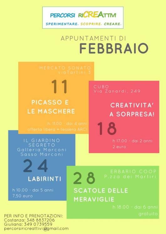 appuntamenti febbraio percorsi